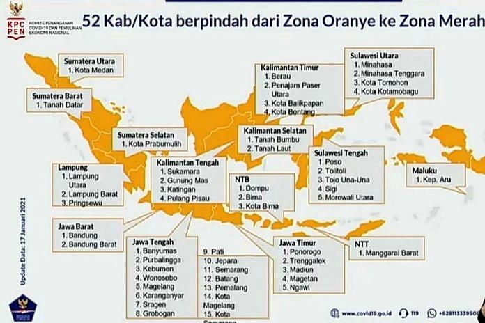 Peta Risiko COVID-19 di Bali Membaik, Ada Satu Zona Merah ...
